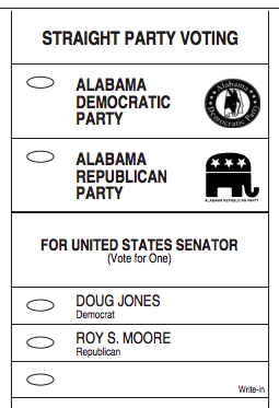 2017 general election senator sample ballot