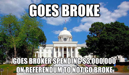 Alabama goes broke