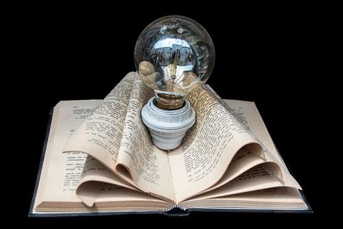 bulb in book