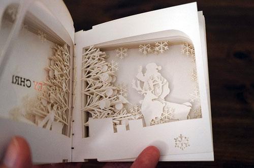Christmas book silhouette
