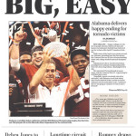 Alabama wins 2011 BCS National Championship: newspaper front pages