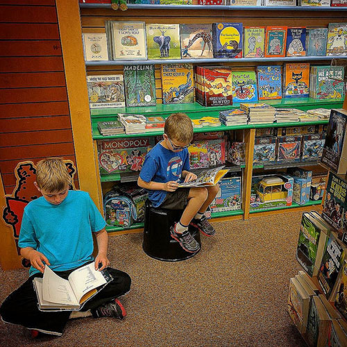 just browsing — kids reading