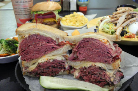 Max's Delicatessen sandwich