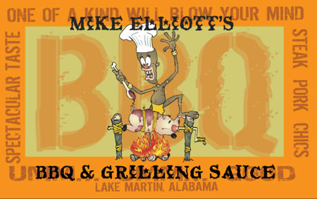 Mike Elliott's BBQ Sauce label