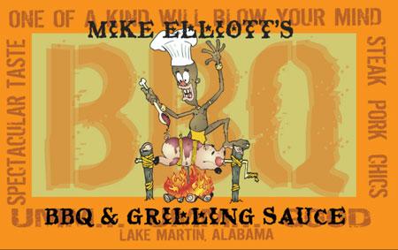 Mike Elliott's BBQ Sauce label