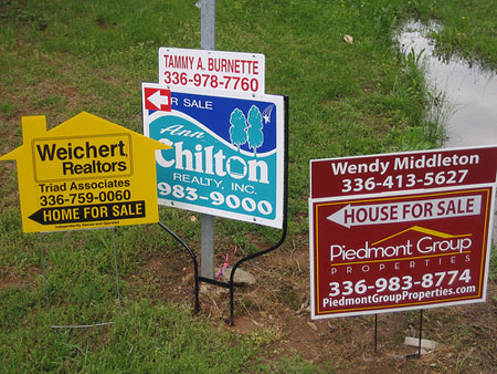 real estate homes for sale signs