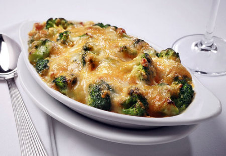 Ruth's Chris Steak House broccoli au gratin