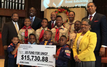 Boy Scouts, Cub Scouts donate to KIND